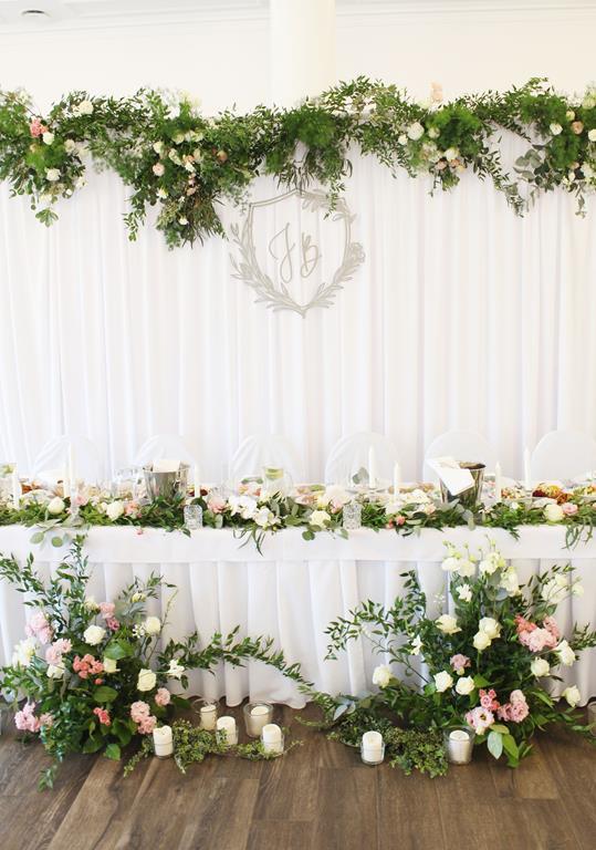 Fantastyczny Dekoracja na stół pary młodej podczas przyjęcia weselnego | Muscari BW39